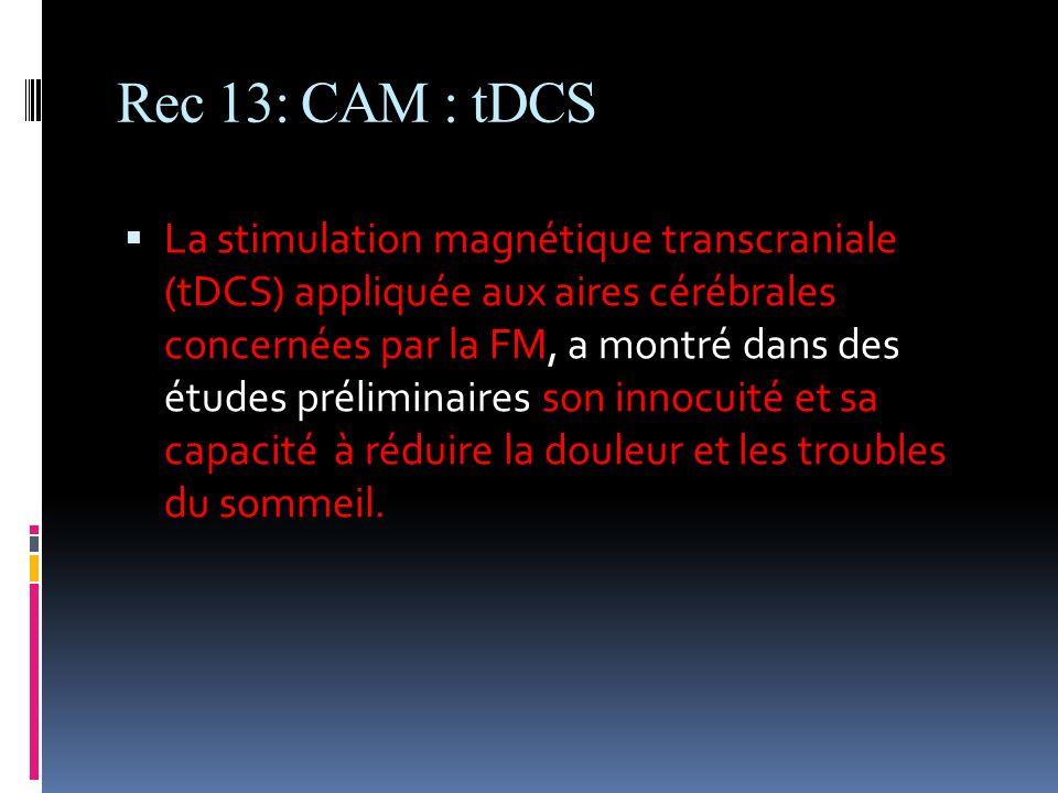Rec 13: CAM : tDCS