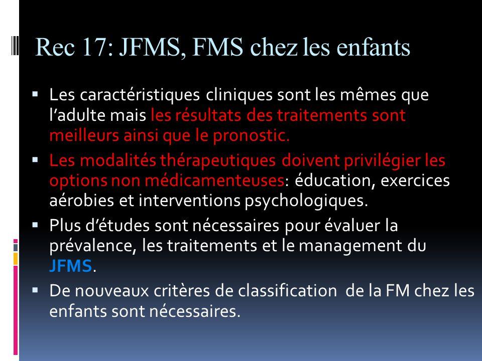 Rec 17: JFMS, FMS chez les enfants
