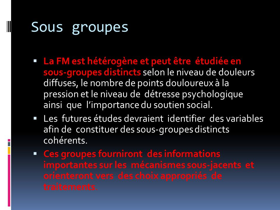 Sous groupes