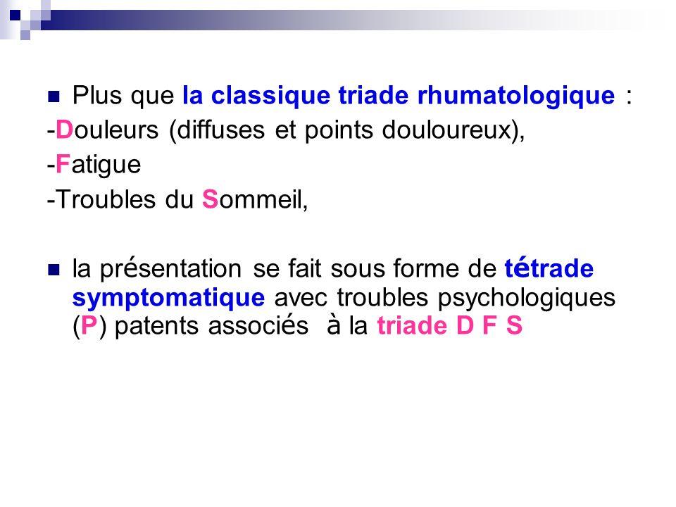 Plus que la classique triade rhumatologique :
