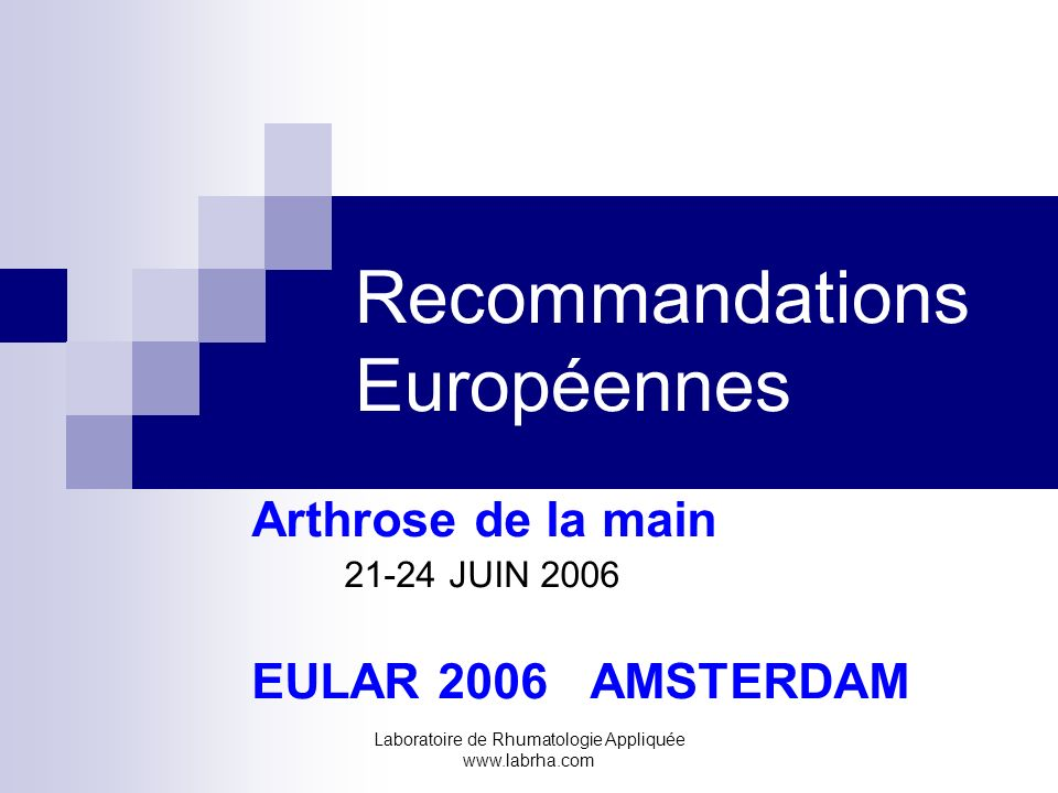 Recommandations Européennes