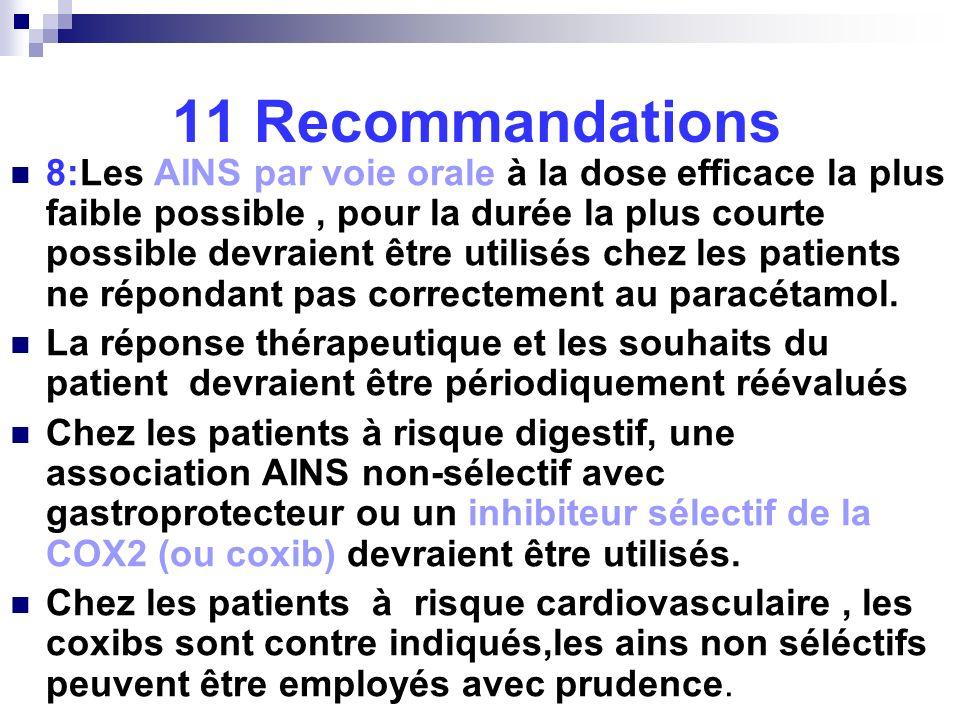11 Recommandations