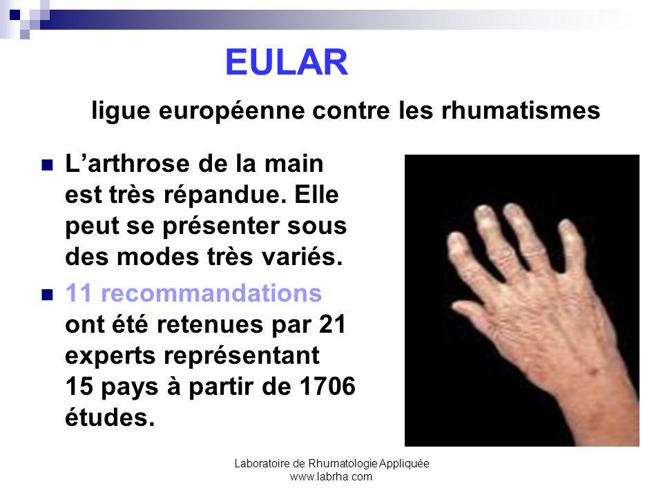 EULAR ligue européenne contre les rhumatismes