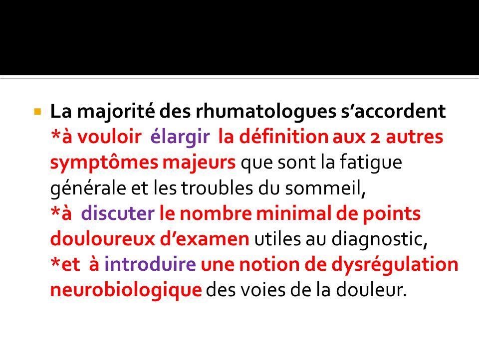 La majorité des rhumatologues s'accordent