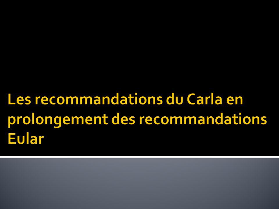 Les recommandations du Carla en prolongement des recommandations Eular