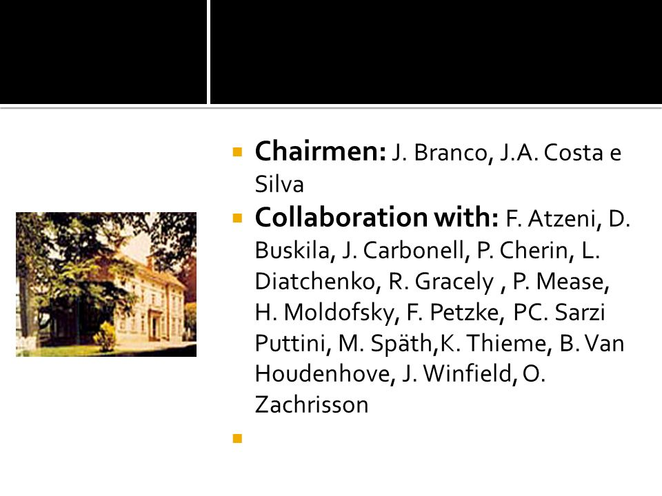 Chairmen: J. Branco, J.A. Costa e Silva