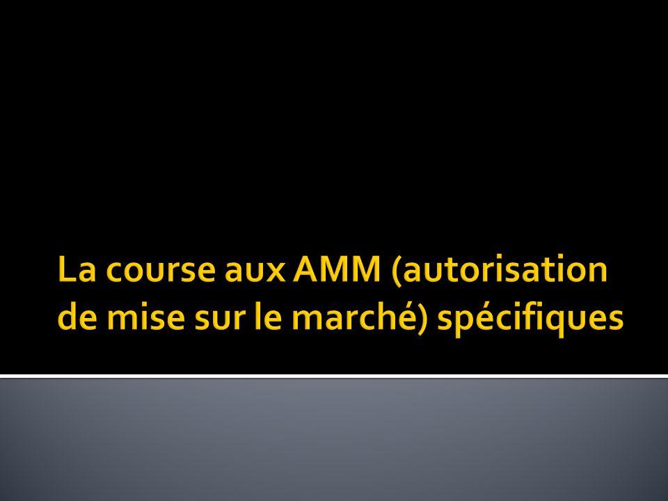 La course aux AMM (autorisation de mise sur le marché) spécifiques