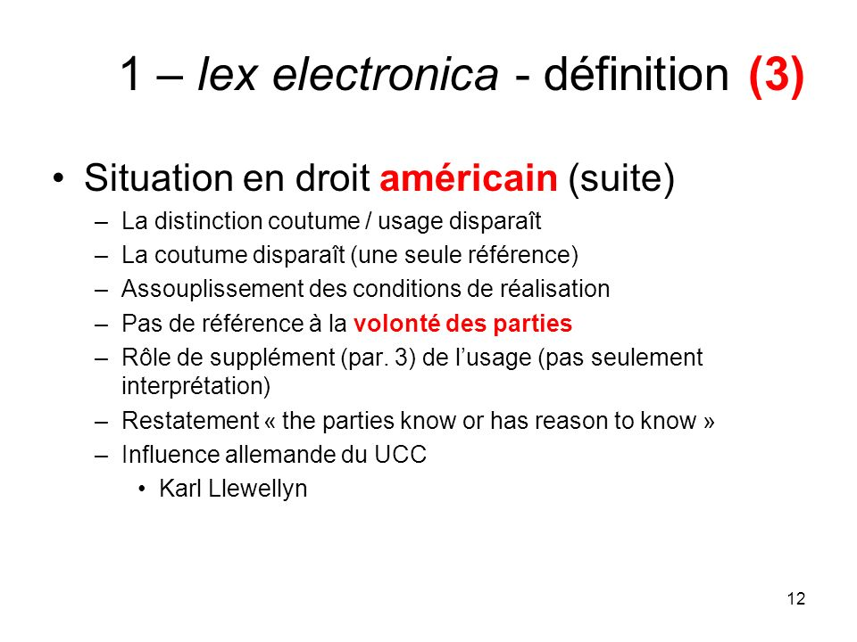 1 – lex electronica - définition (3)