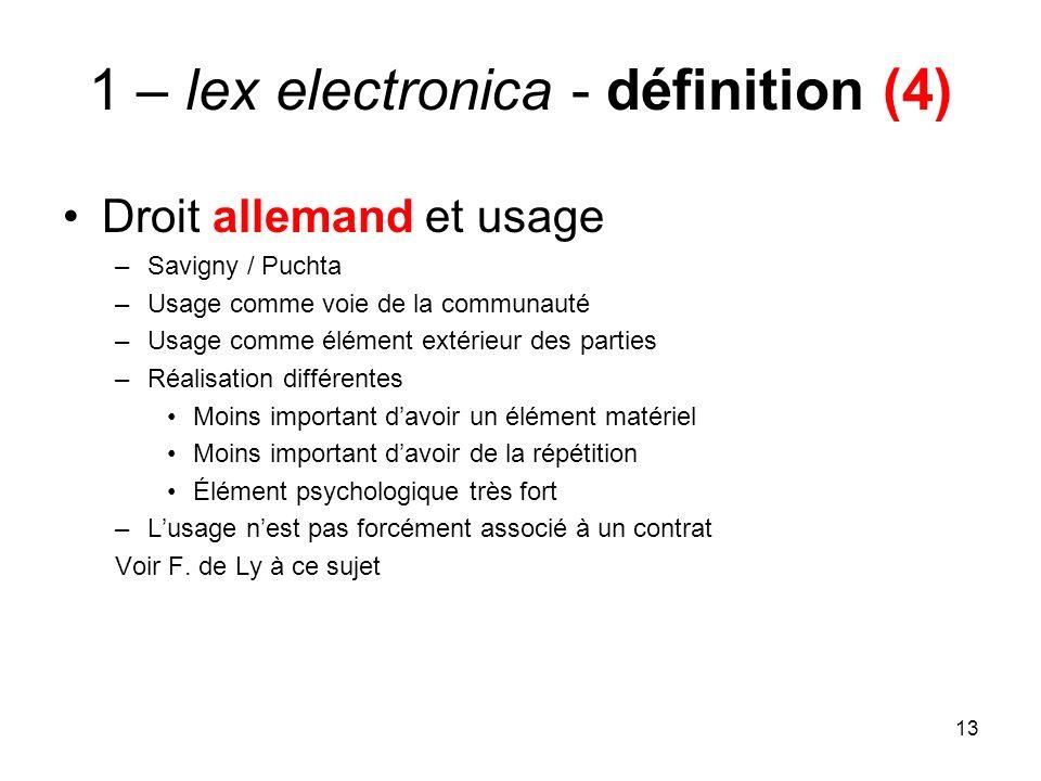 1 – lex electronica - définition (4)