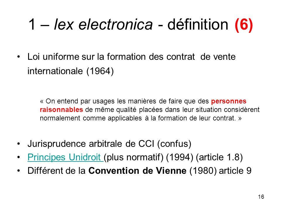 1 – lex electronica - définition (6)