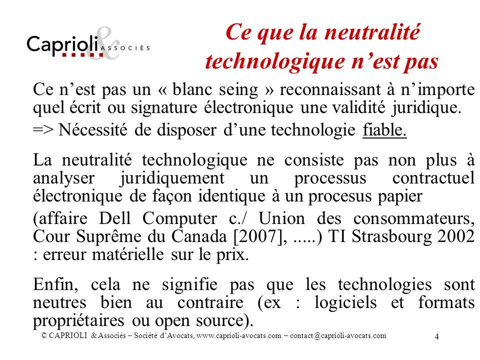 Ce que la neutralité technologique n'est pas