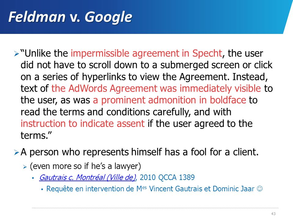 Feldman v. Google