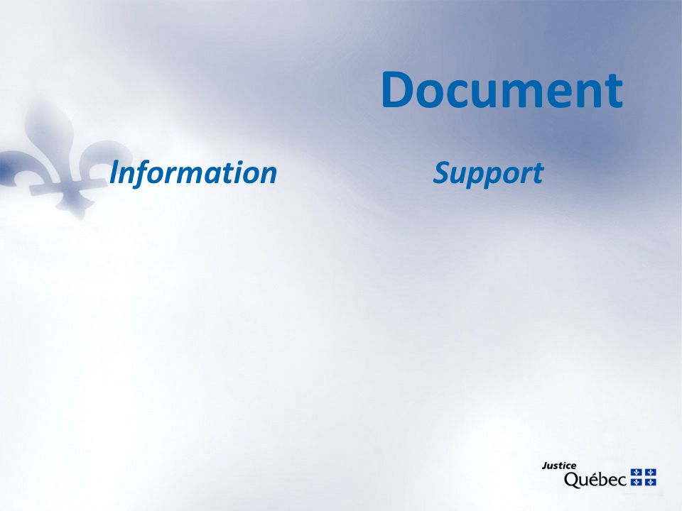 Document lnformation Support