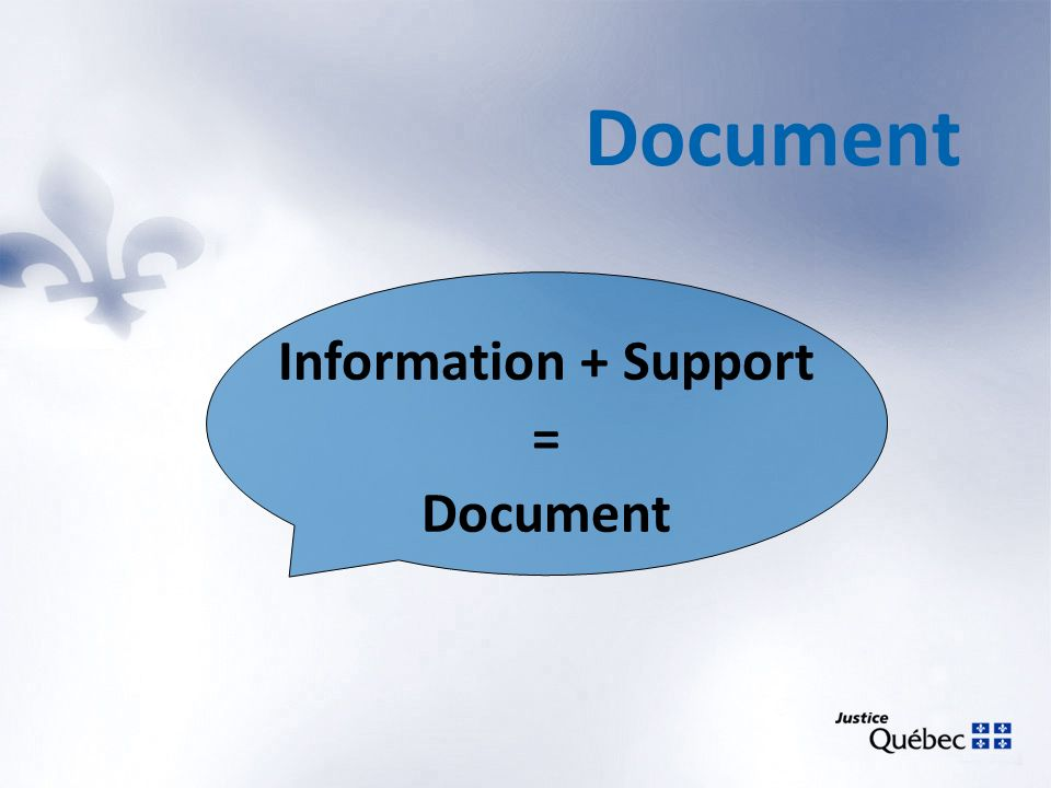 Document Information + Support = Document