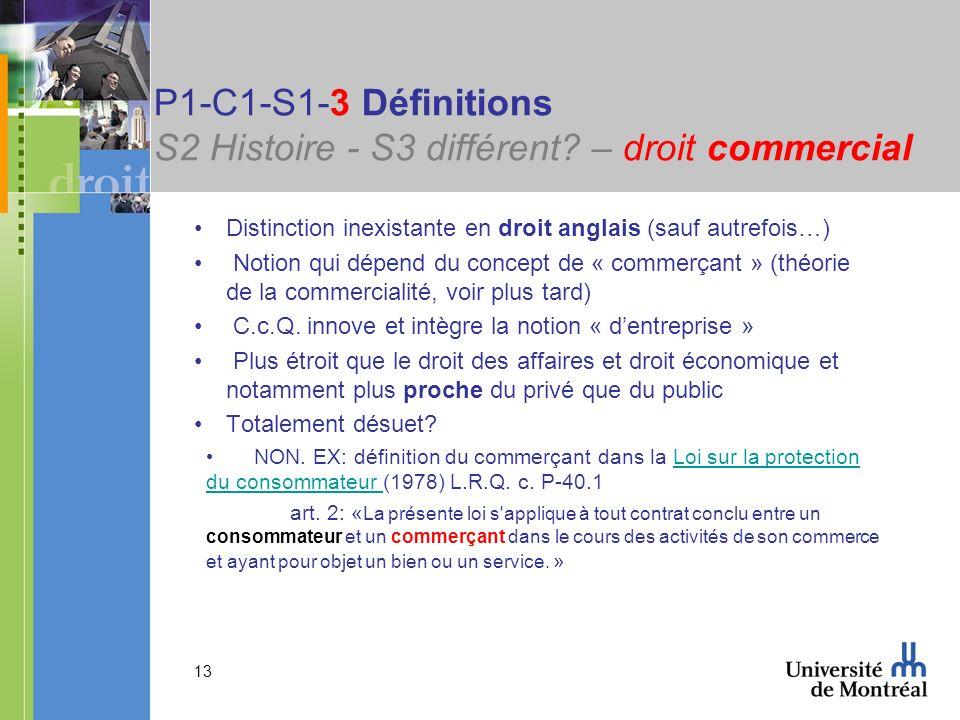 P1-C1-S1-3 Définitions S2 Histoire - S3 différent – droit commercial