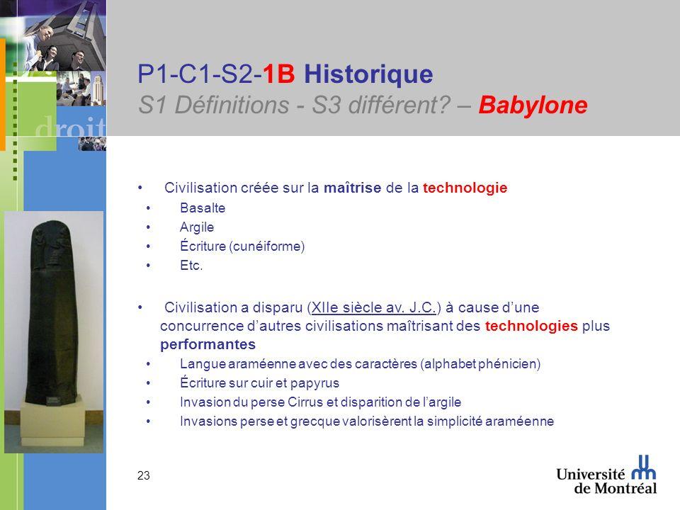 P1-C1-S2-1B Historique S1 Définitions - S3 différent – Babylone