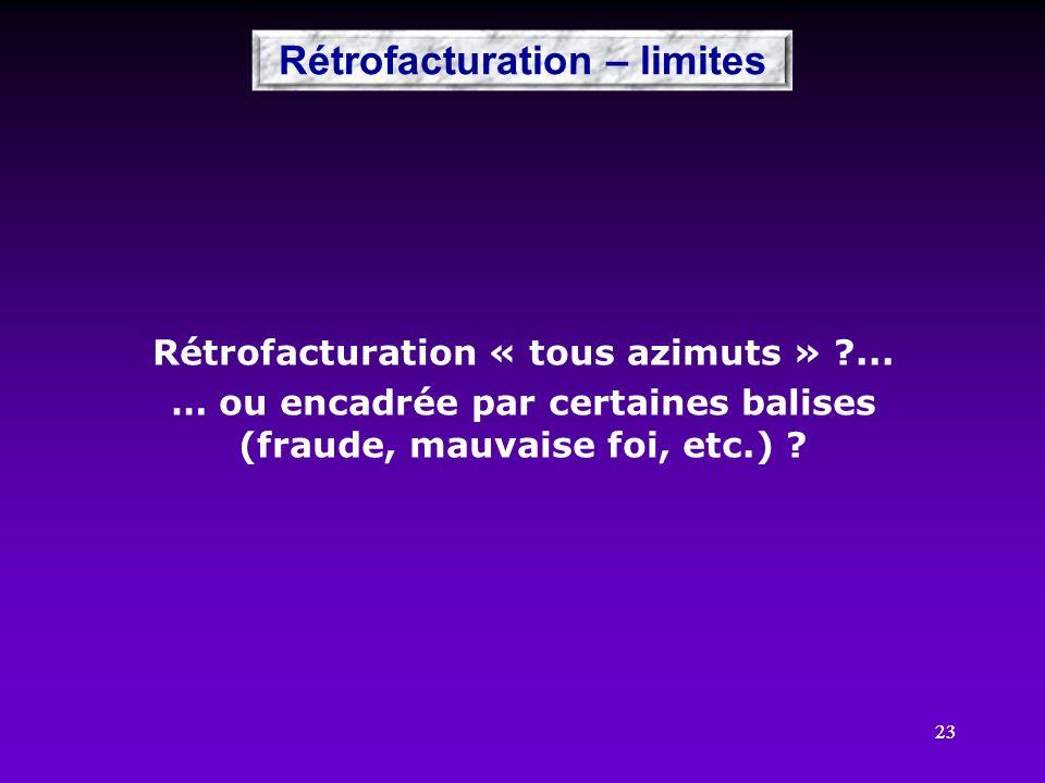 Rétrofacturation – limites