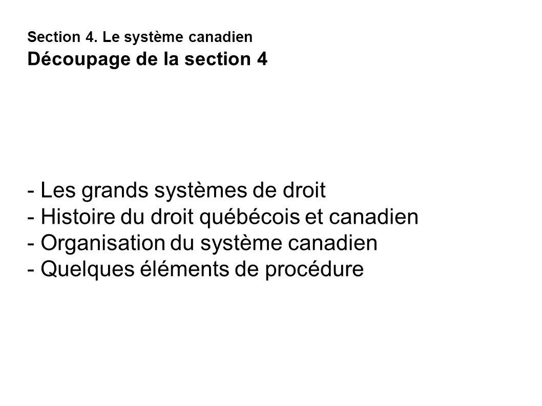 Section 4. Le système canadien Découpage de la section 4
