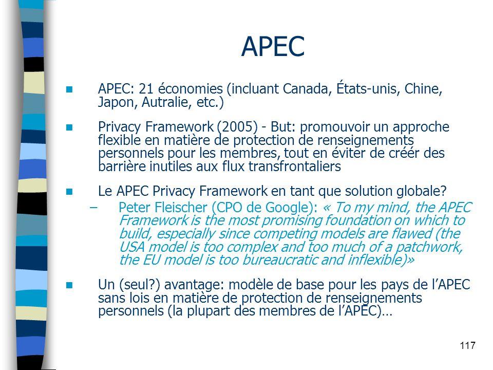 APEC APEC: 21 économies (incluant Canada, États-unis, Chine, Japon, Autralie, etc.)