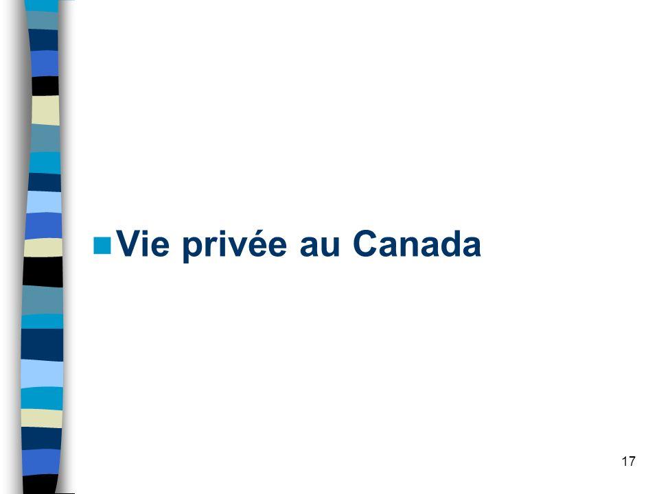 Vie privée au Canada
