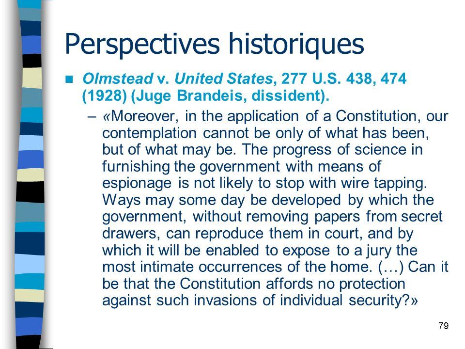 Perspectives historiques