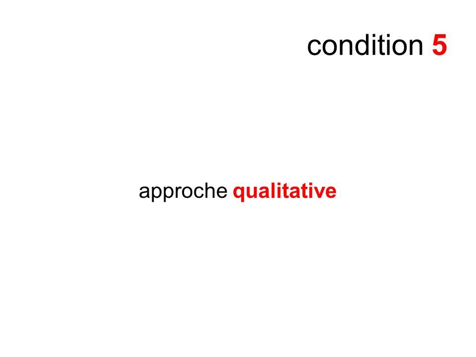 condition 5 approche qualitative