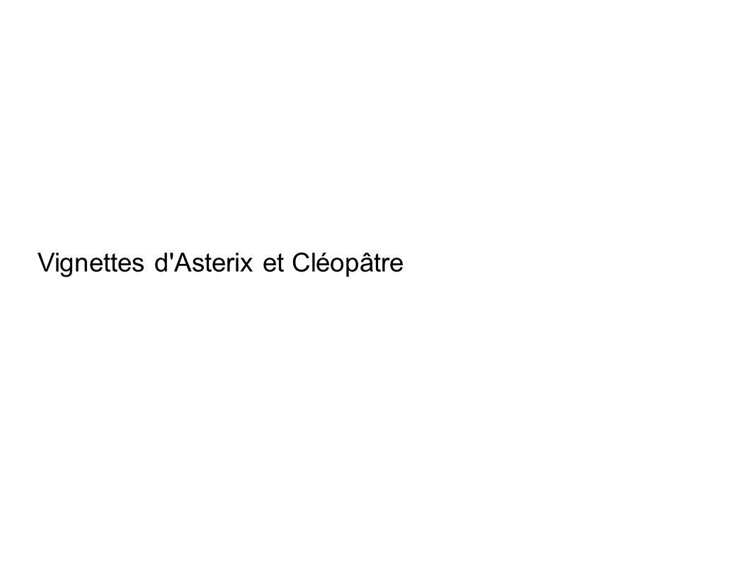 Vignettes d Asterix et Cléopâtre