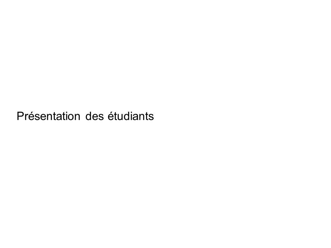 Présentation des étudiants