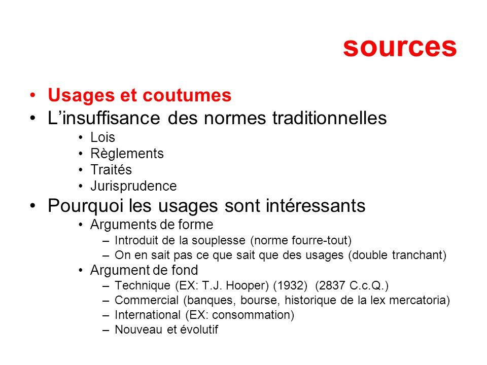 sources Usages et coutumes L'insuffisance des normes traditionnelles