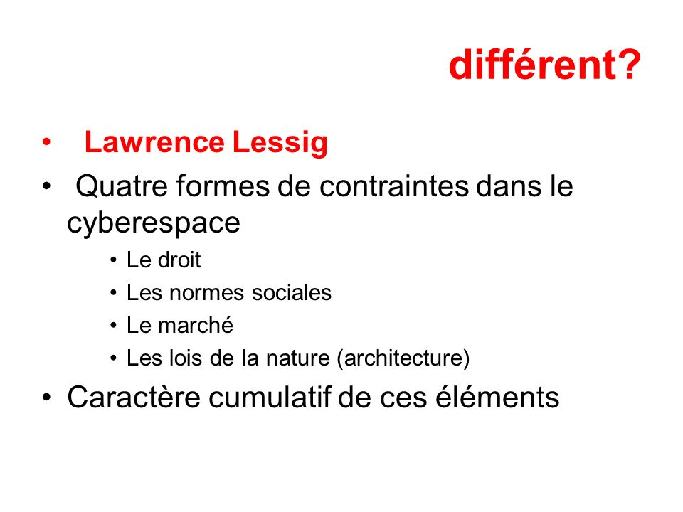 différent Lawrence Lessig