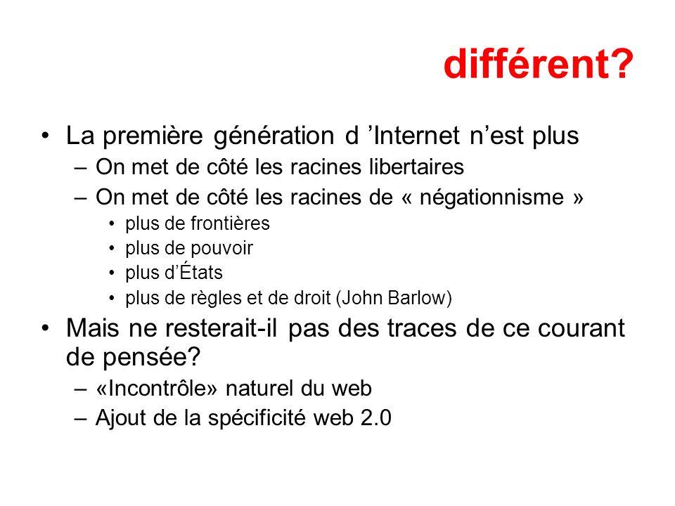 différent La première génération d 'Internet n'est plus