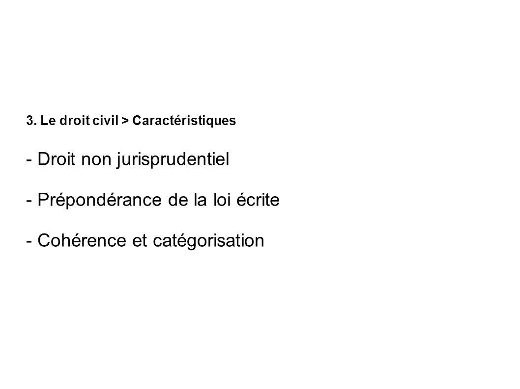 - Droit non jurisprudentiel - Prépondérance de la loi écrite