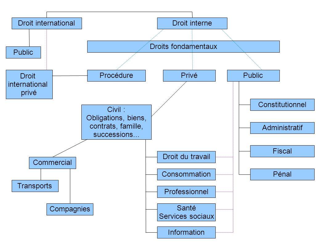 Droit internationalDroit interne. Droits fondamentaux. Public. Droit. international. privé. Procédure.