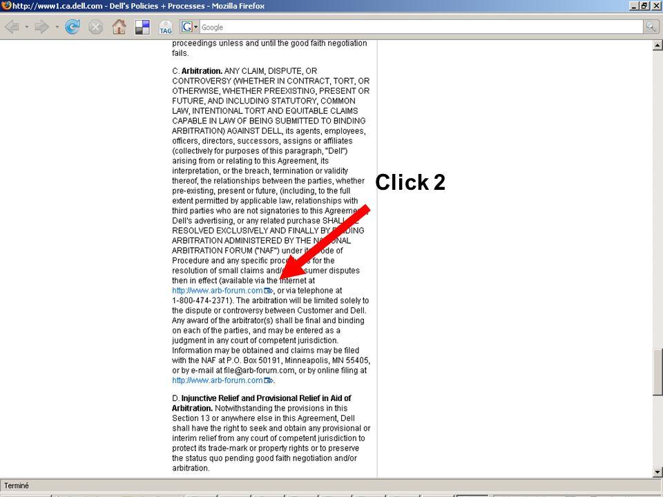 2. Click wrap Click 2