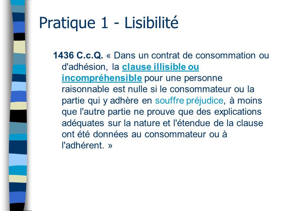Pratique 1 - Lisibilité
