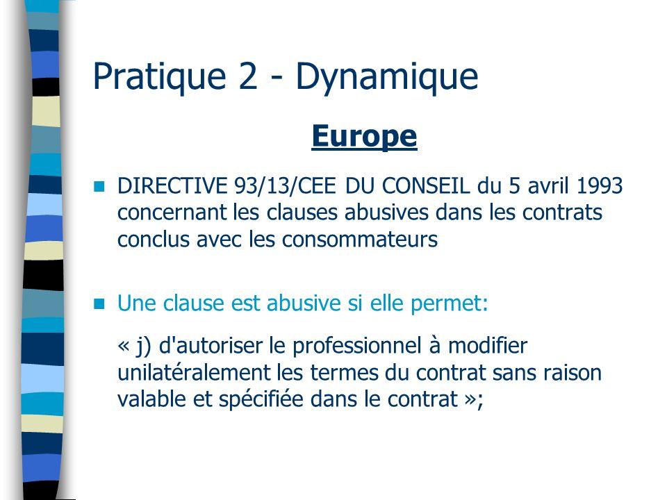 Pratique 2 - Dynamique Europe
