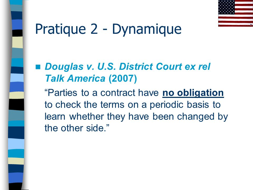 Pratique 2 - Dynamique Douglas v. U.S. District Court ex rel Talk America (2007)