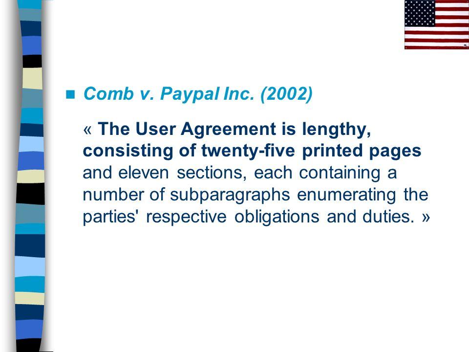 Comb v. Paypal Inc. (2002)