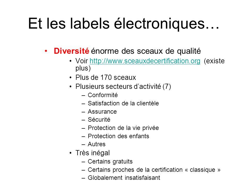 Et les labels électroniques…