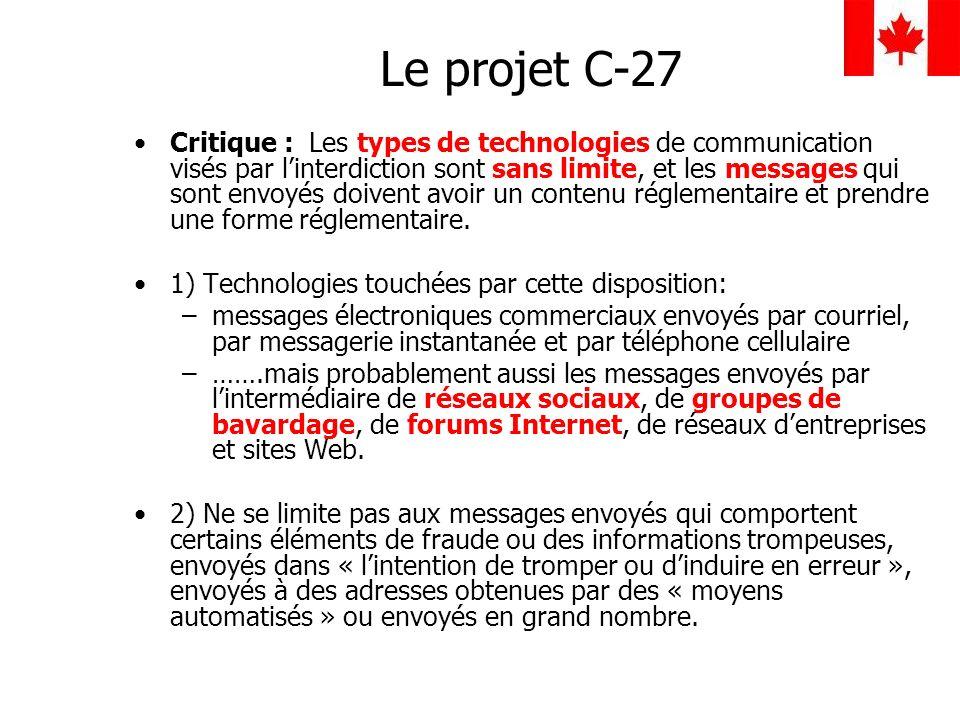 Le projet C-27