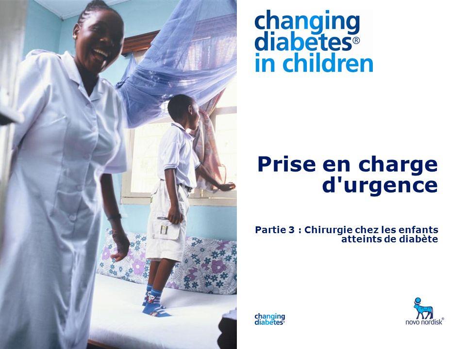 Presentation title Prise en charge d urgence Partie 3 : Chirurgie chez les enfants atteints de diabète.