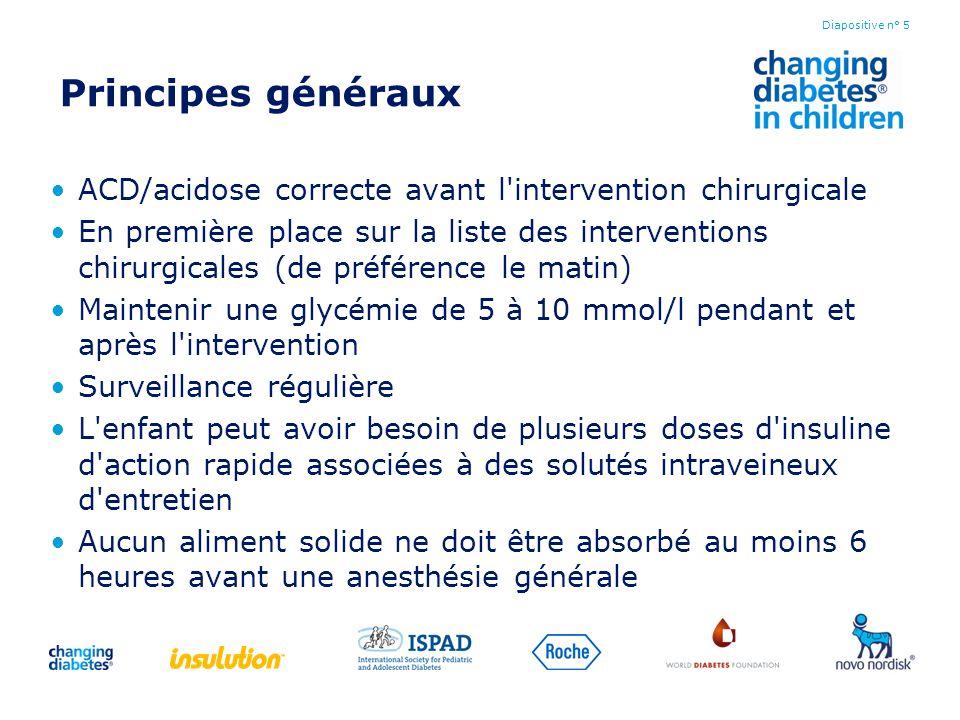 Principes généraux ACD/acidose correcte avant l intervention chirurgicale.