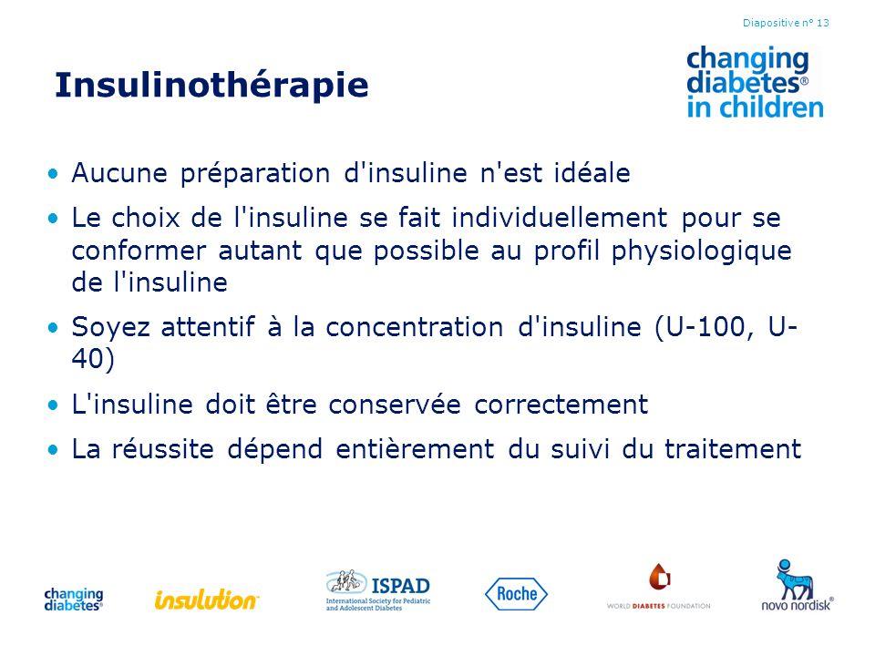 Insulinothérapie Aucune préparation d insuline n est idéale