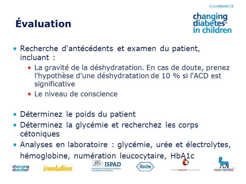 Évaluation Recherche d antécédents et examen du patient, incluant :