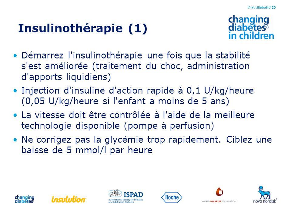 Diapositive n° 20 Insulinothérapie (1)