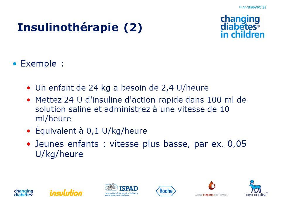 Insulinothérapie (2) Exemple :