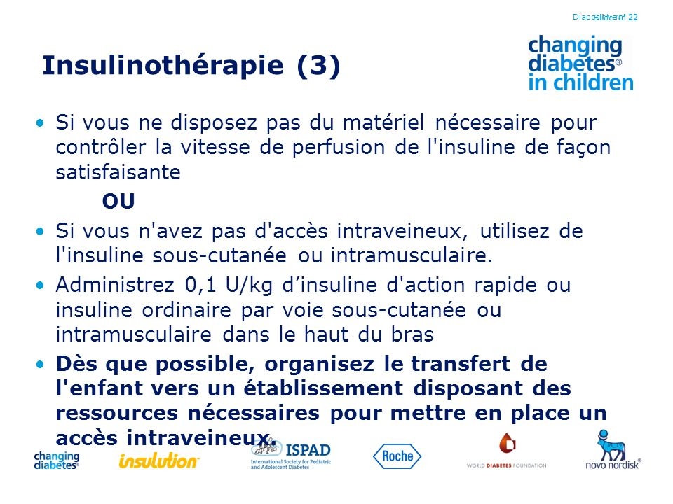 Diapositive n° 22 Insulinothérapie (3)