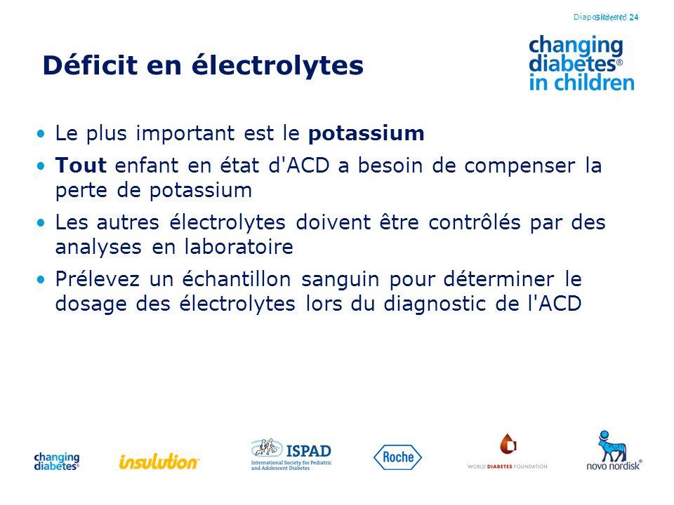Déficit en électrolytes
