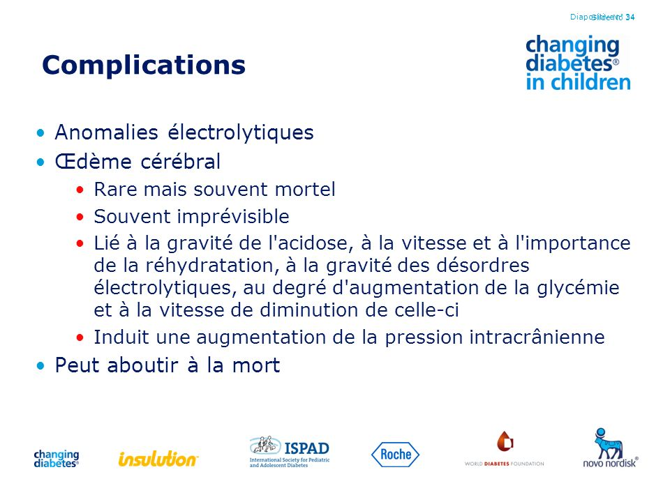 Complications Anomalies électrolytiques Œdème cérébral