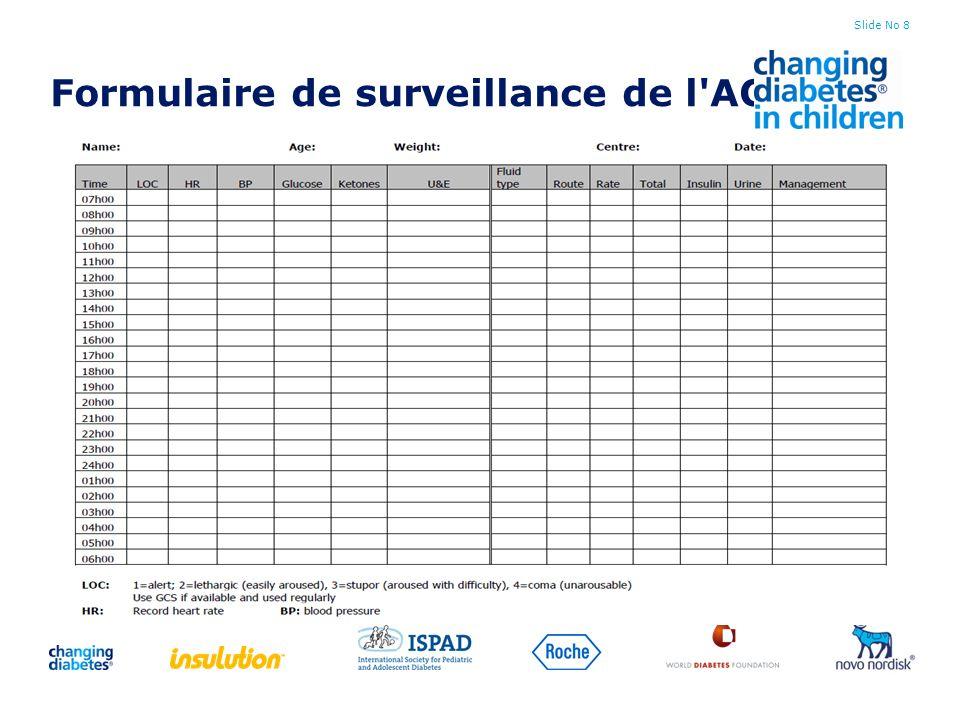 Formulaire de surveillance de l ACD